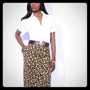 Lauren by Ralph Lauren leapord print skirt